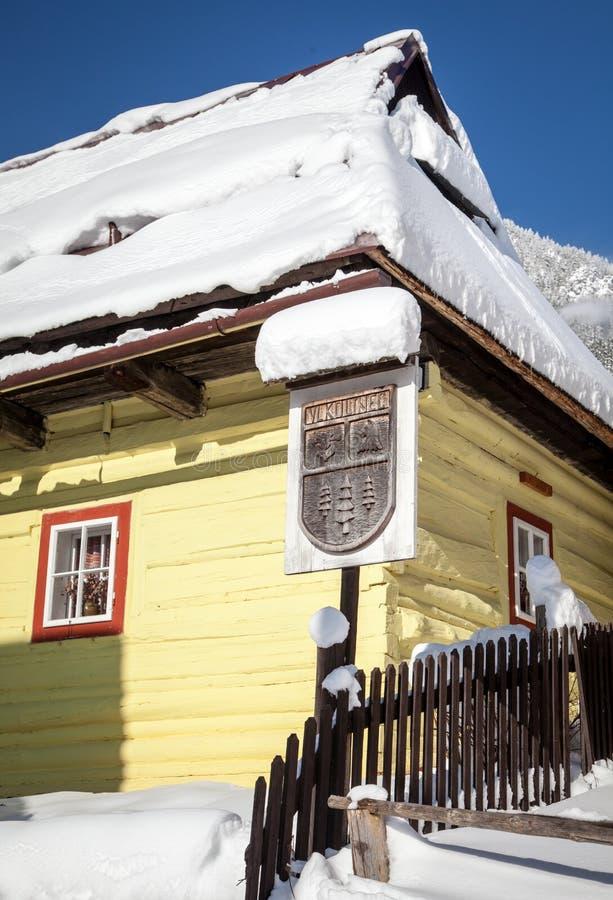 Historical village Vlkolinec, Slovakia stock image