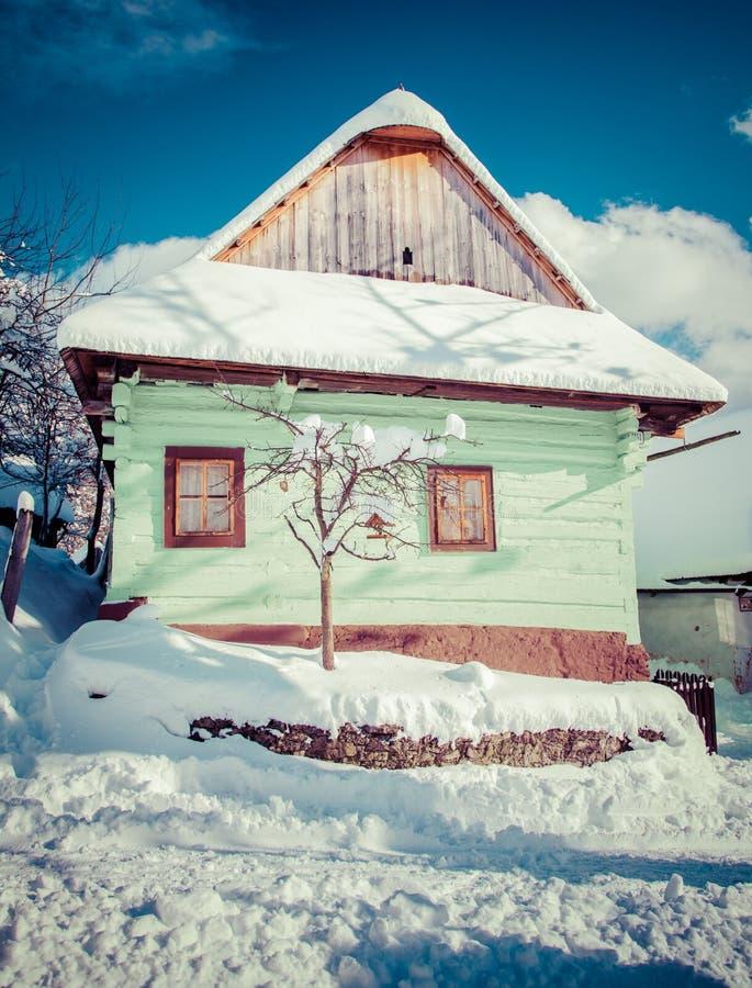 Historical village Vlkolinec, Slovakia royalty free stock photo