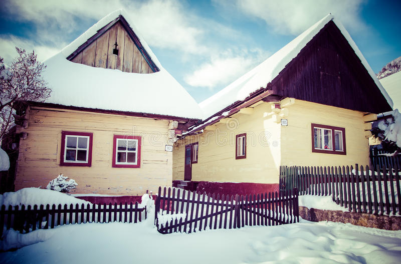 Historical village Vlkolinec, Slovakia royalty free stock photos