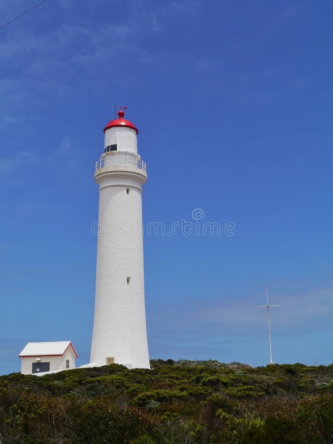 Historical white lighthouse royalty free stock photos