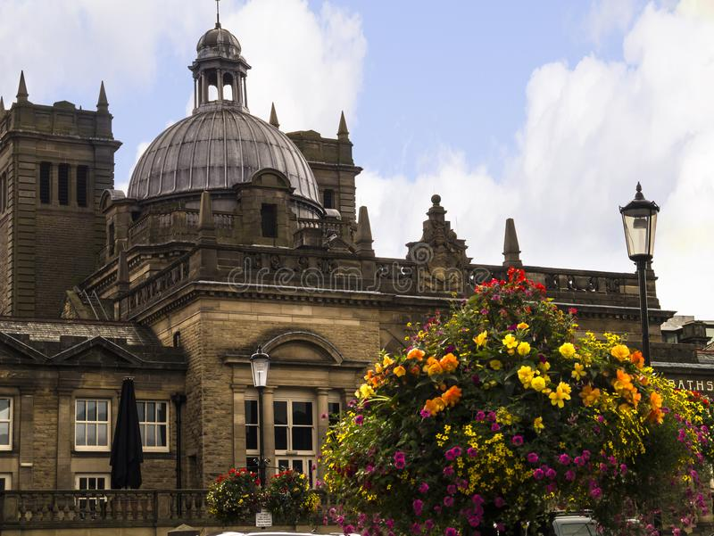 Historically in the West Riding of Yorkshire,Harrogate is a tourist destination and its visitor attractions include its spa waters. Harrogate is a town in North royalty free stock photography