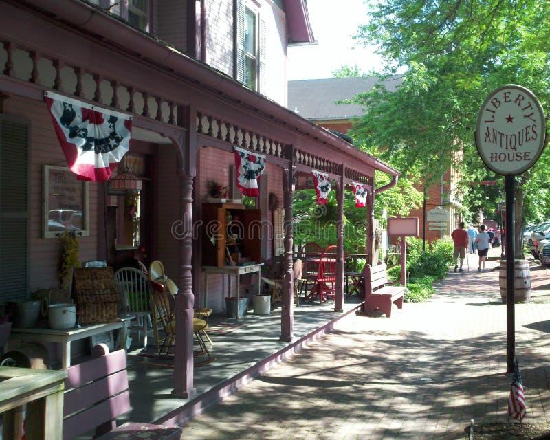 Historicial sąsiedztwa mieszkaniowa centrala Ohio zdjęcie royalty free