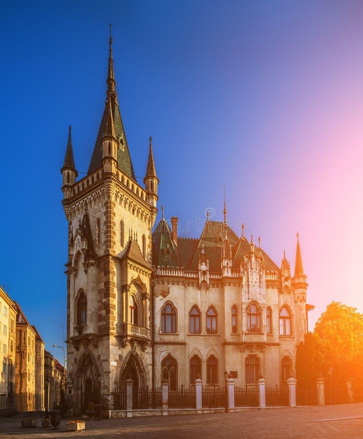 Historicism style Jakabs Palace. Kosice, Slovakia royalty free stock photos