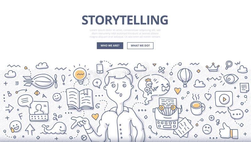 Historieberättandeklotterbegrepp royaltyfri illustrationer