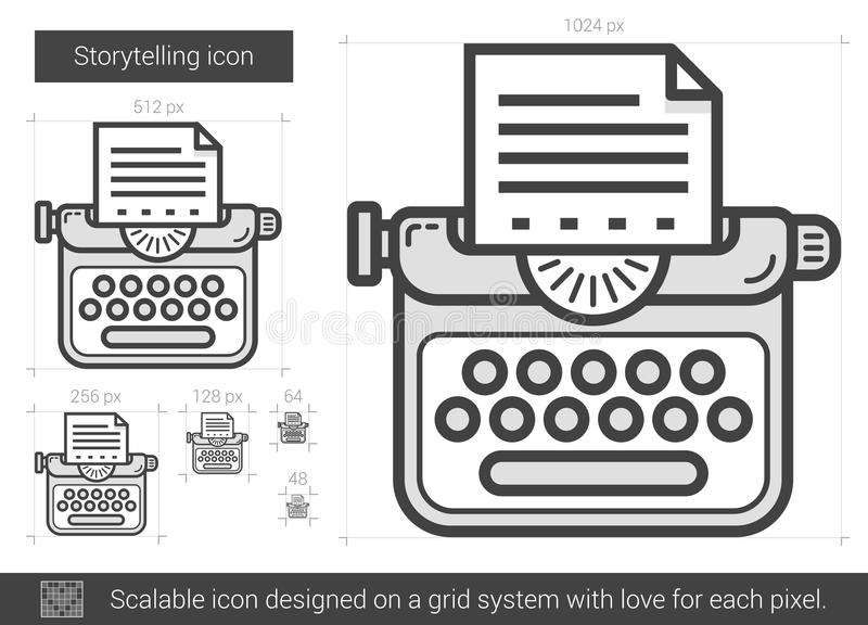 Historieberättandelinje symbol vektor illustrationer