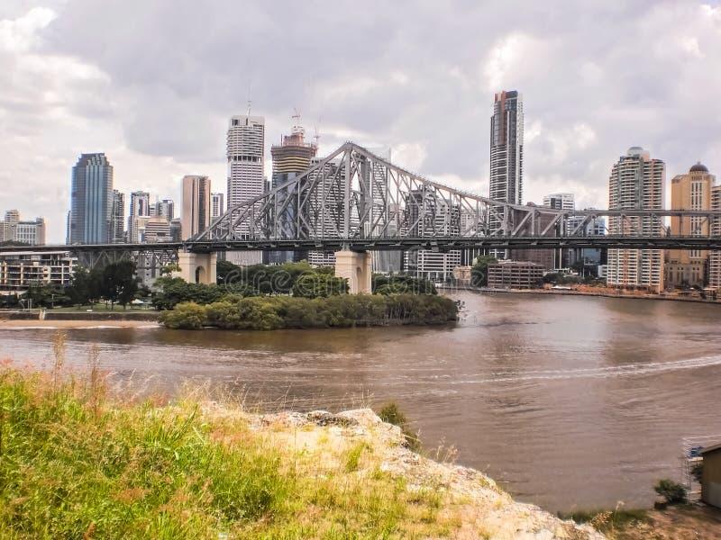 Historiebro i Brisbane arkivfoto