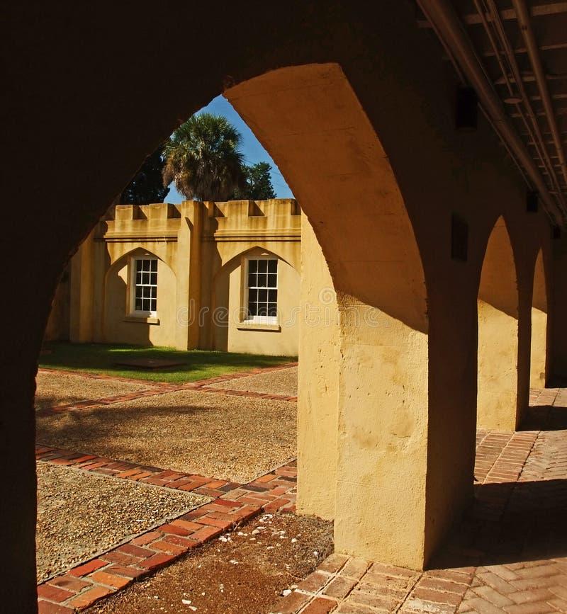 Historiemuseum Beaufort South Carolina royaltyfri foto