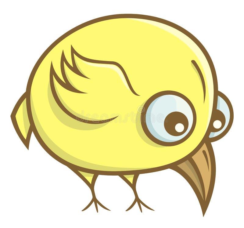 Historieta amarilla del pájaro stock de ilustración