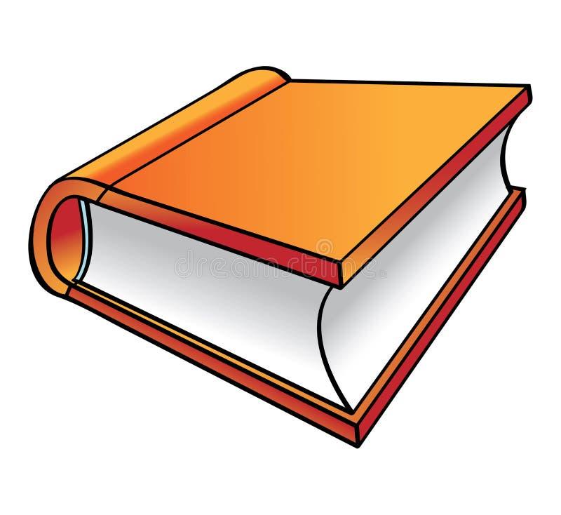 Historieta anaranjada del libro stock de ilustración