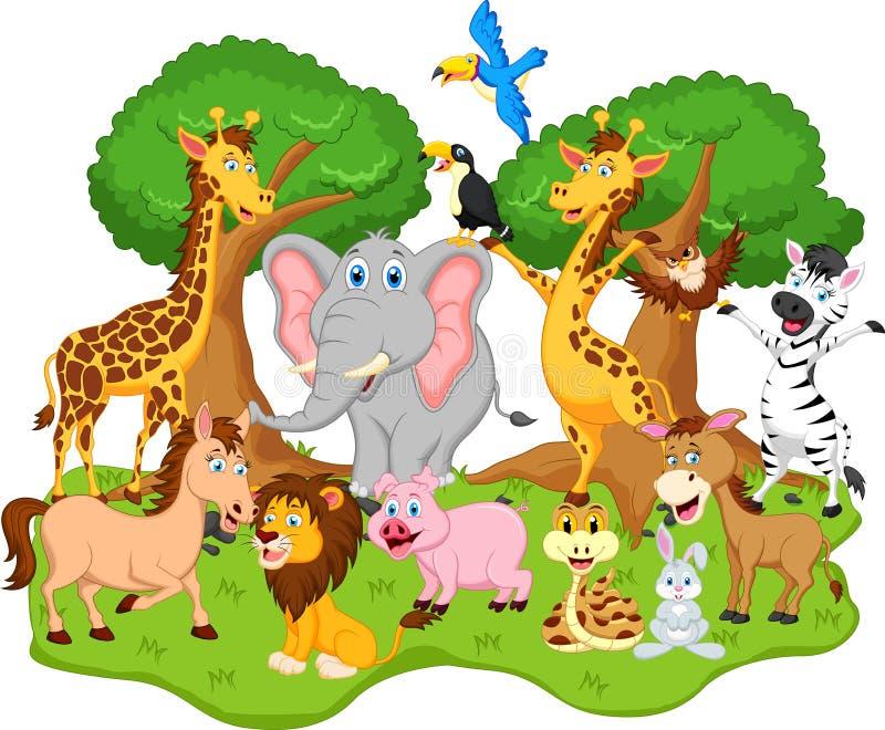 Historieta animal divertida ilustración del vector