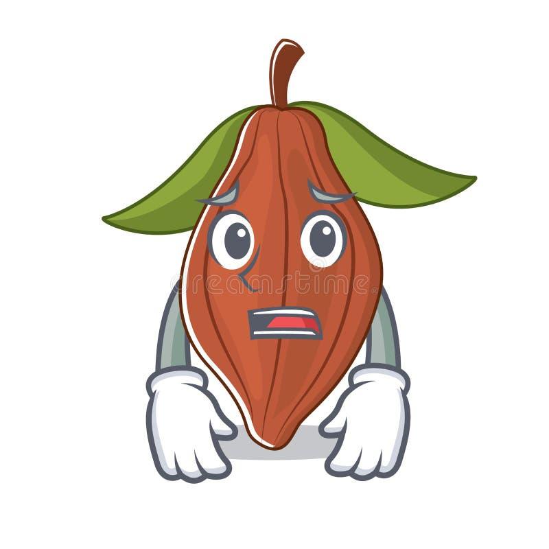 Historieta asustada de la mascota de la haba del cacao libre illustration