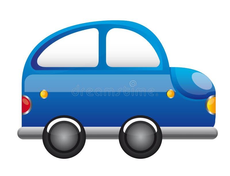 Historieta azul del coche ilustración del vector