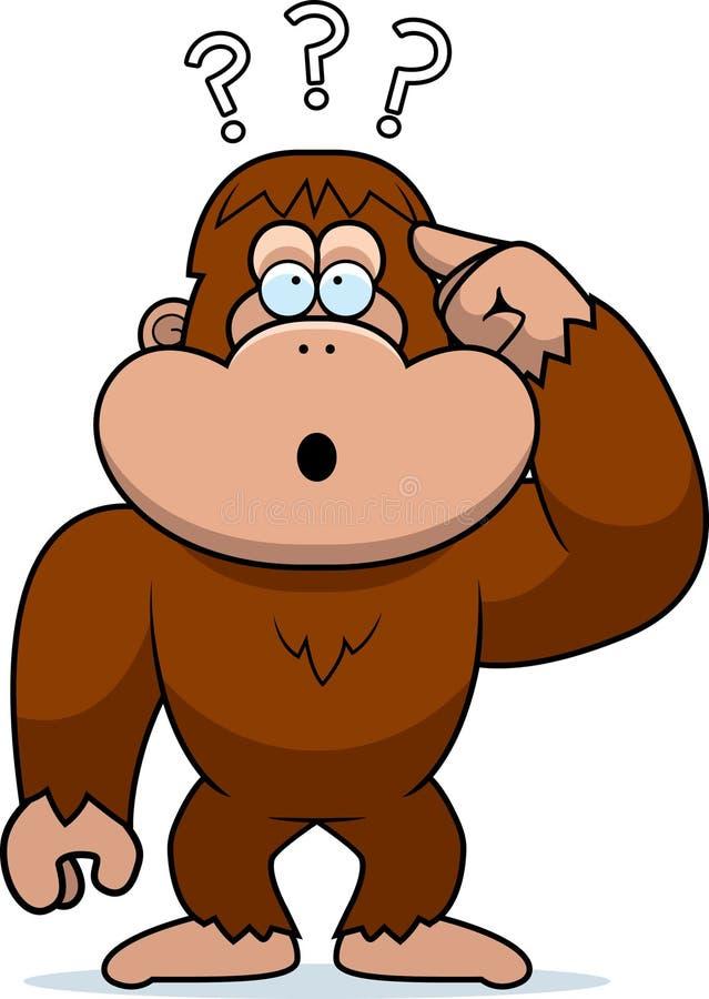 Historieta Bigfoot estúpido ilustración del vector