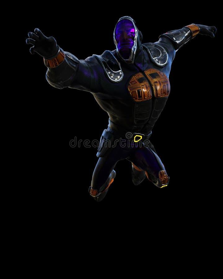 Historieta cibernética del ninja ilustración del vector