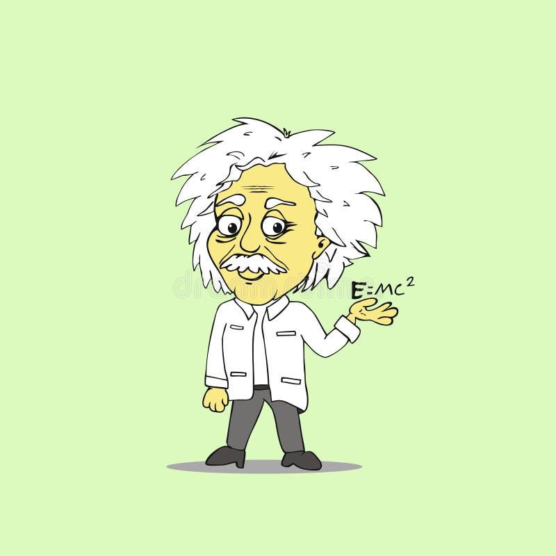 Historieta de Albert Einstein stock de ilustración
