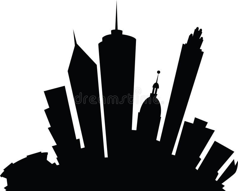Historieta de Atlanta ilustración del vector