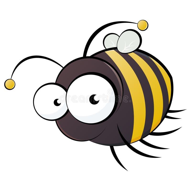 Historieta de la abeja ilustración del vector