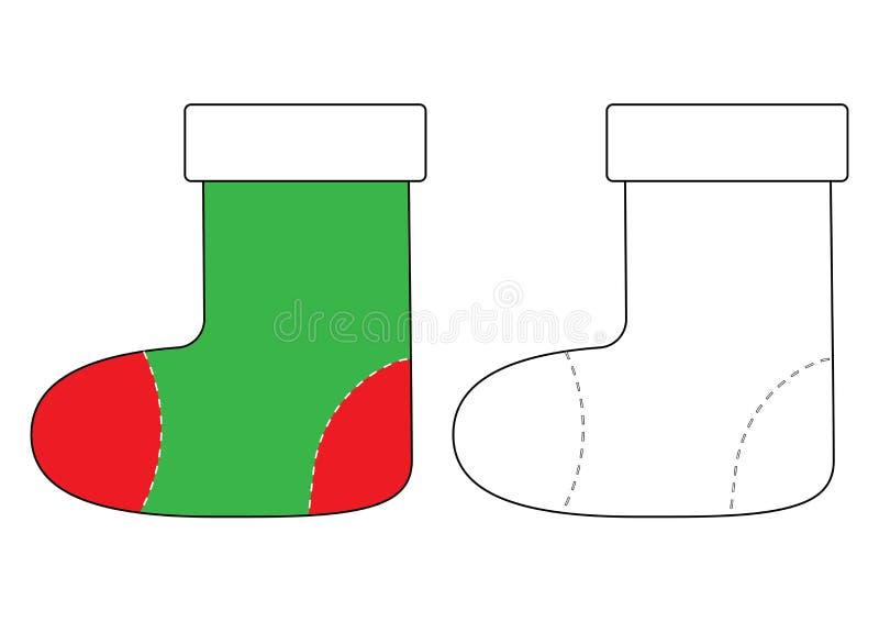 Historieta de la bota del fieltro Libro de colorear para los niños Vector stock de ilustración