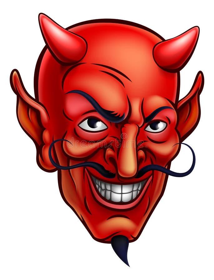 Historieta de la cara del diablo stock de ilustración