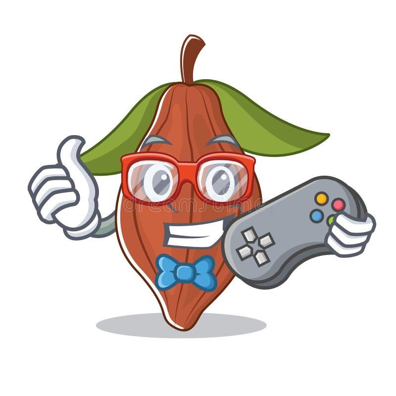 Historieta de la mascota de la haba del cacao del videojugador libre illustration