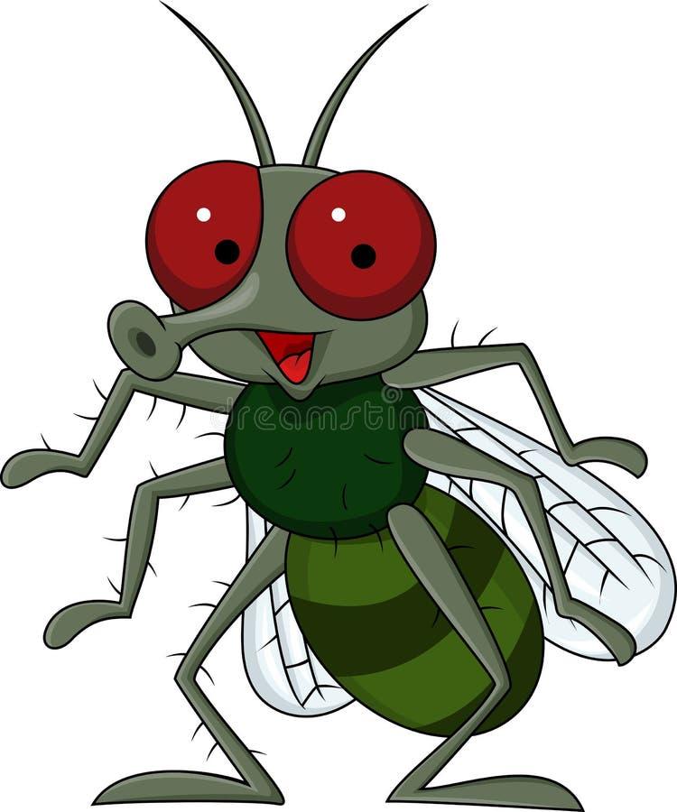 Historieta de la mosca stock de ilustración