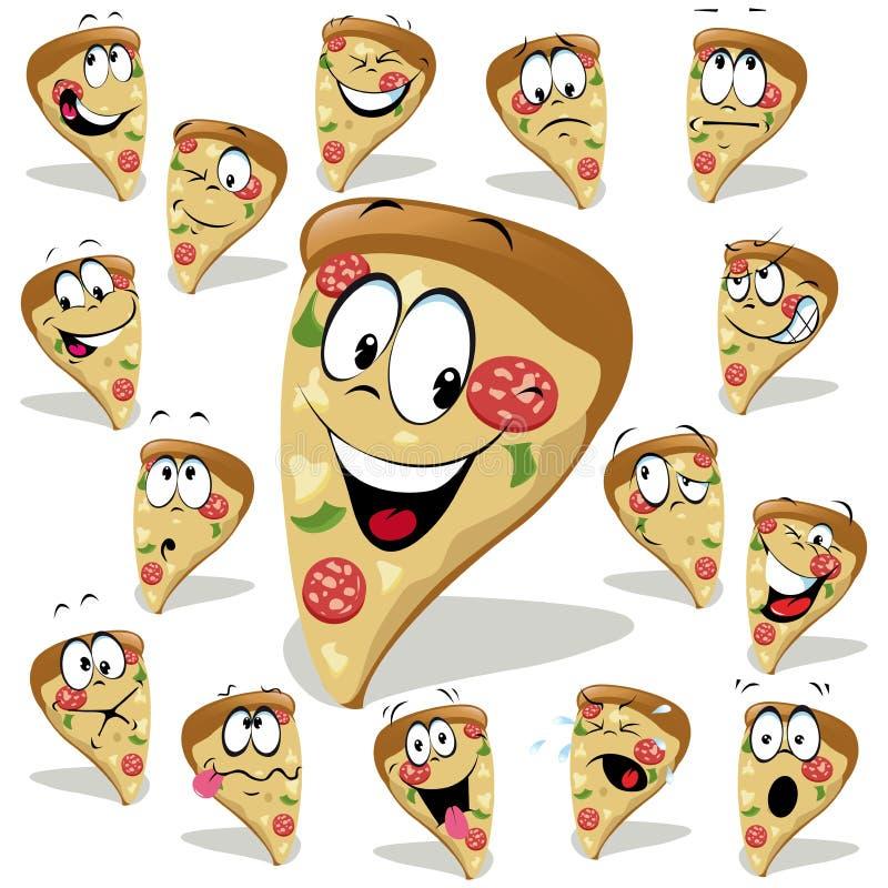 Historieta de la pizza ilustración del vector