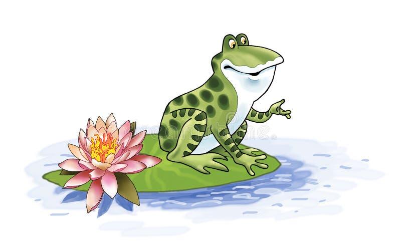 historieta de la rana del pantano libre illustration