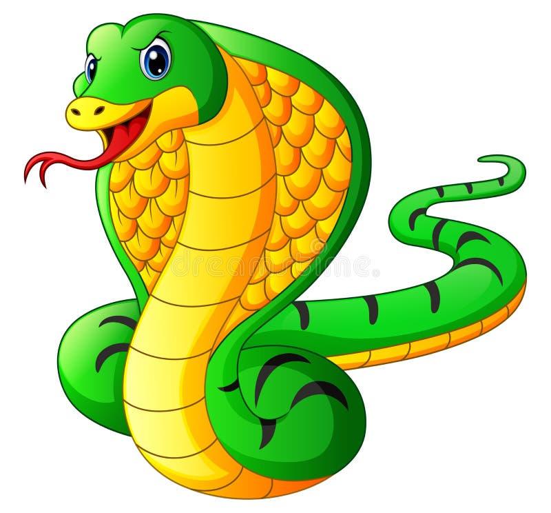 Historieta de la serpiente de la cobra stock de ilustración