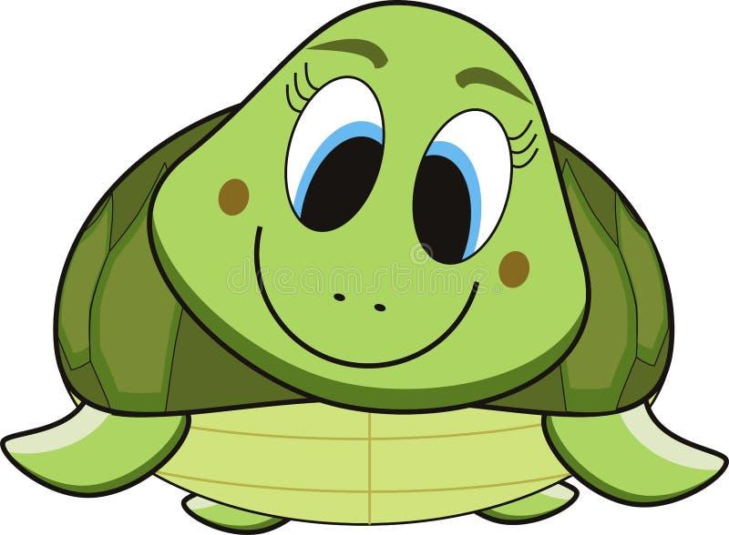Historieta de la tortuga stock de ilustración
