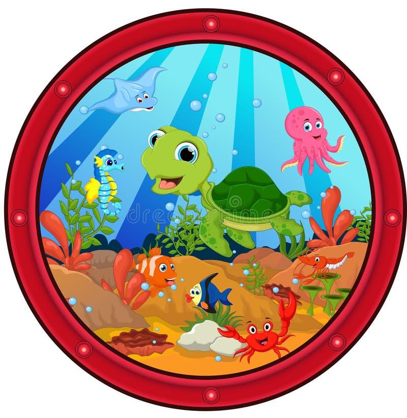 Historieta de la tortuga de mar libre illustration