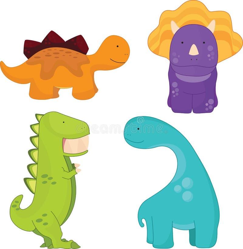 Historieta de los dinosaurios stock de ilustración