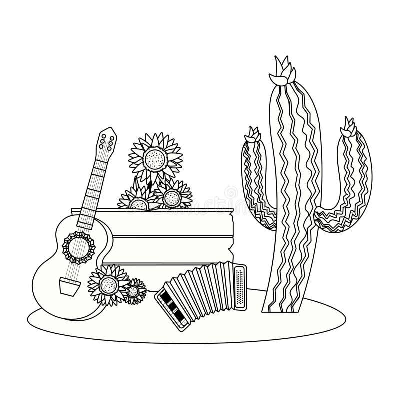 Historieta de madera de la muestra stock de ilustración