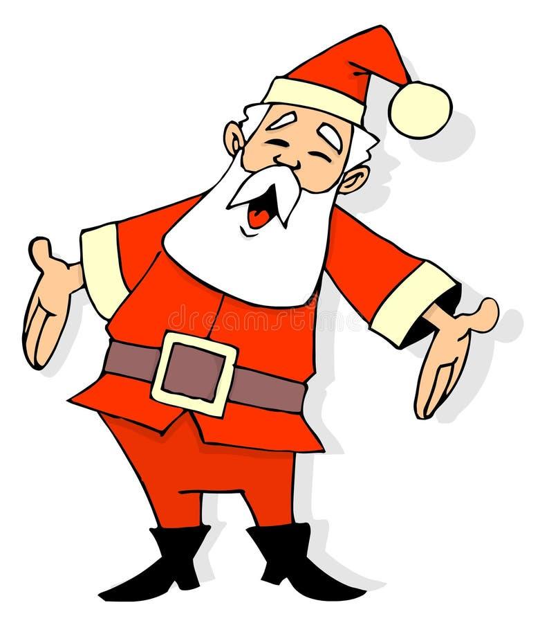 Historieta de Papá Noel stock de ilustración