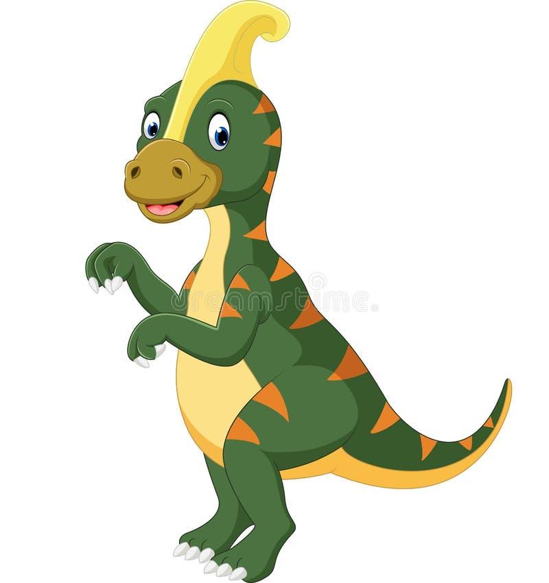 Historieta de Parasaurolophus ilustración del vector