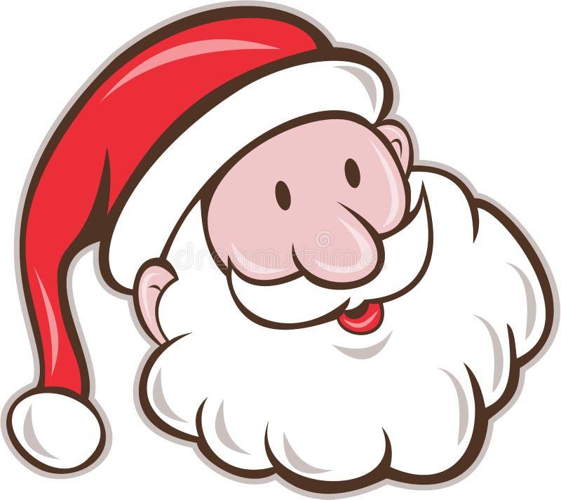Historieta de Santa Claus Father Christmas Head Smiling ilustración del vector