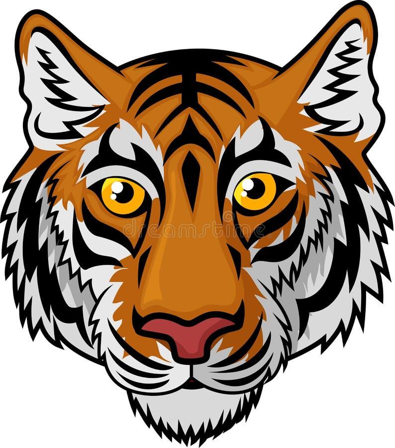 Historieta de Tiger Head Mascot Team Sport stock de ilustración