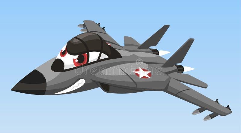 Historieta del aeroplano del combate stock de ilustración