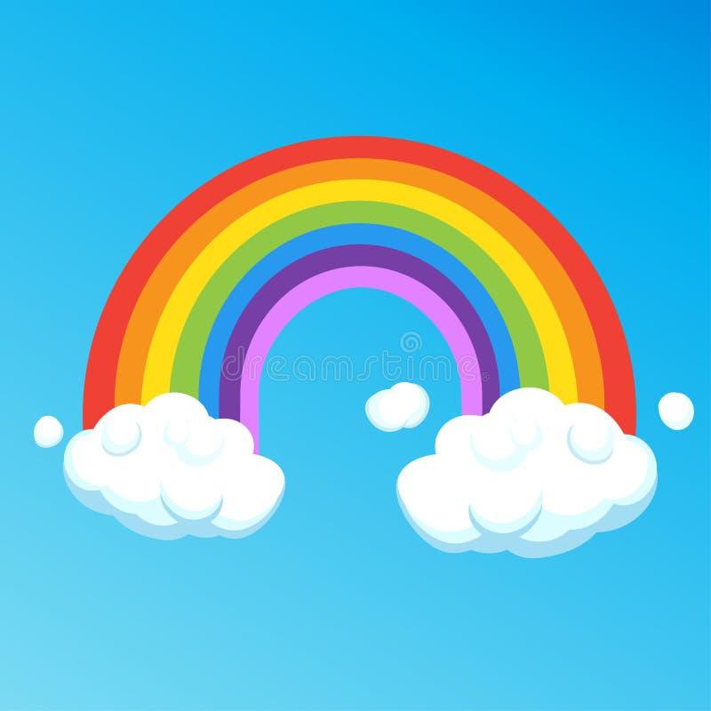 Historieta del arco iris stock de ilustración