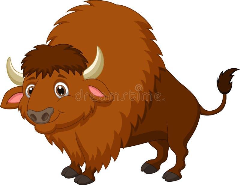 Historieta del bisonte stock de ilustración