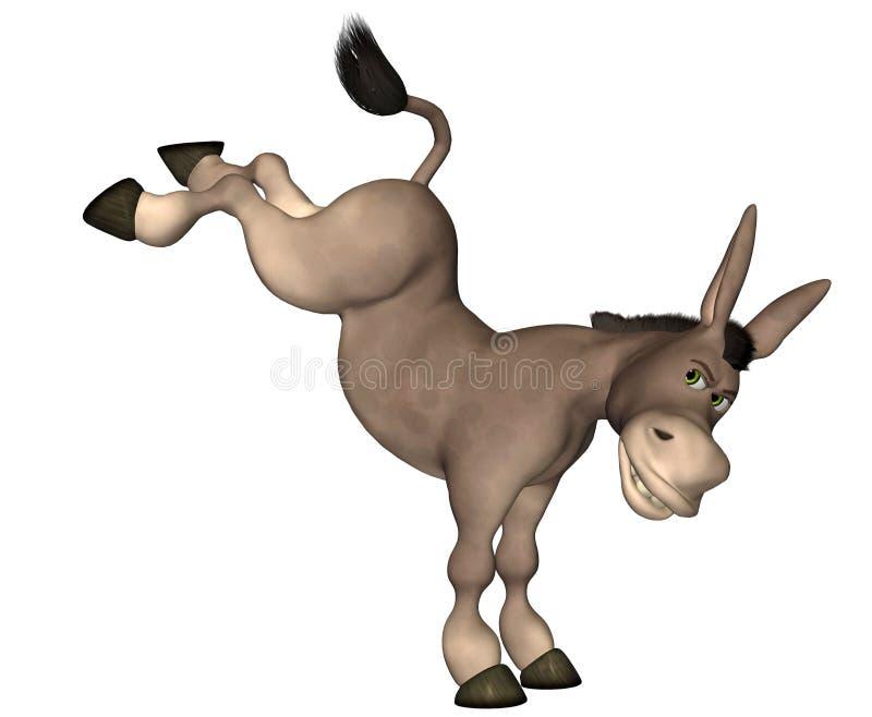Historieta del burro ilustración del vector
