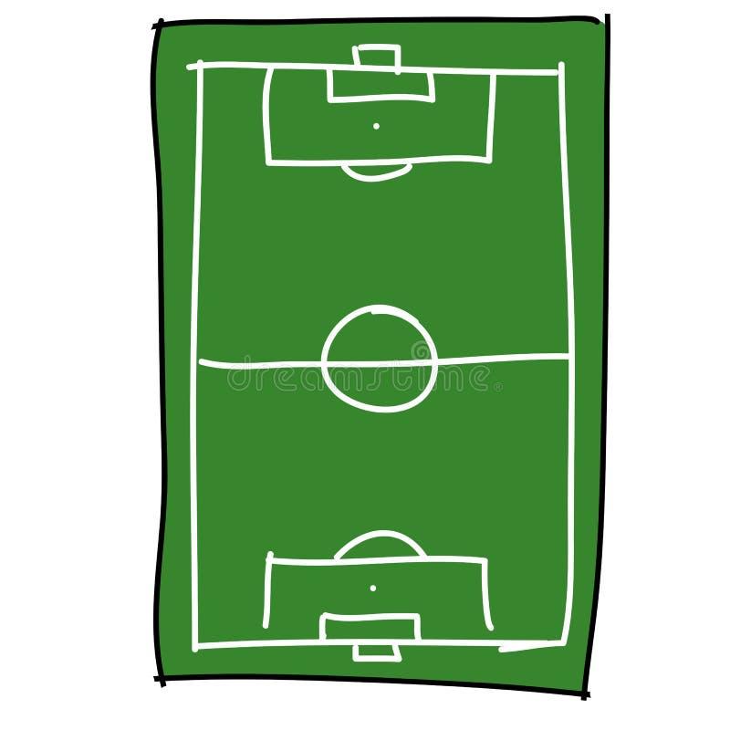 Historieta del campo de fútbol libre illustration