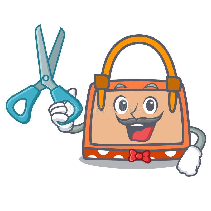 Historieta del carácter del bolso del peluquero libre illustration