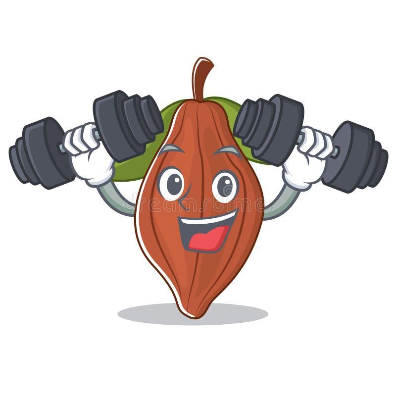 Historieta del carácter de la haba del cacao de la aptitud libre illustration