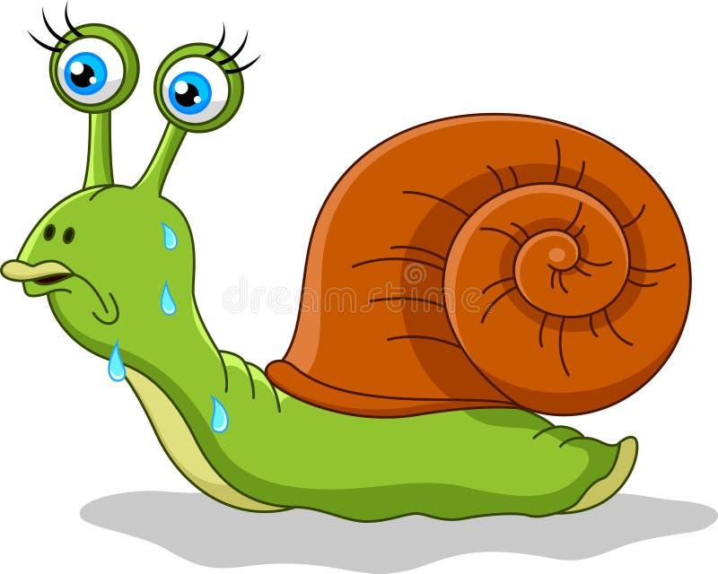 Historieta del caracol ilustración del vector