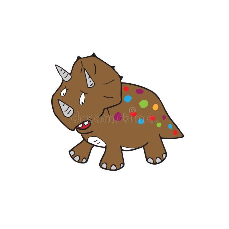 Historieta del dinosaurio ilustración del vector
