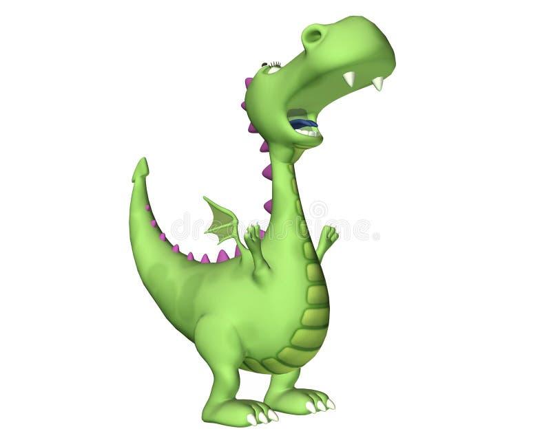 Historieta del dragón - aullido stock de ilustración