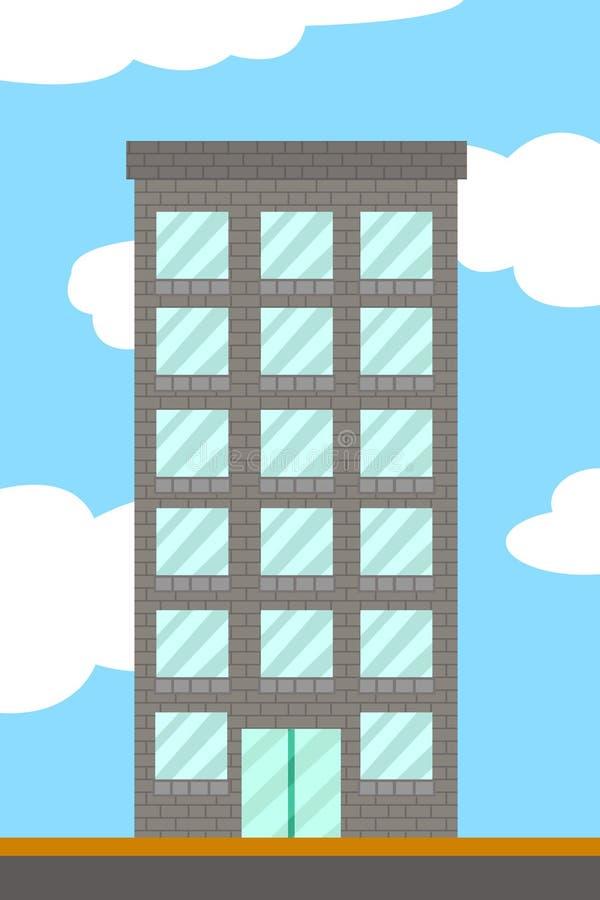 Historieta del edificio imagenes de archivo