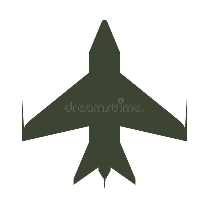 Historieta del icono del aeroplano ilustración del vector