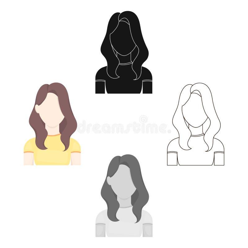 Historieta del icono de la muchacha, negra r libre illustration