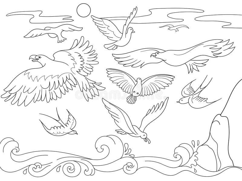 Bonito Libro Para Colorear Pájaros Imagen - Dibujos Para Colorear En ...